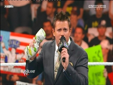 What is The Miz holding on to???