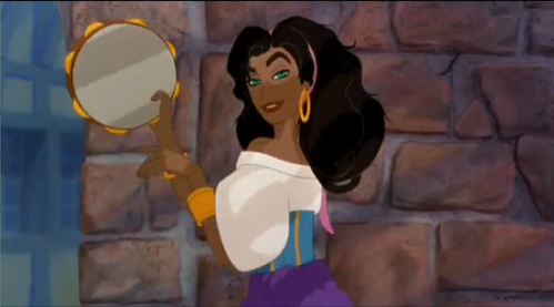 How many emas coins does Esmeralda have on her dress?