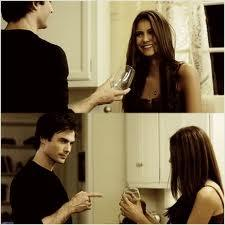 What does Damon say to Elena here?
