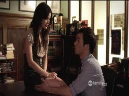 Who does Aria tell Ezra has feelings for him and she saw her flirting with him?