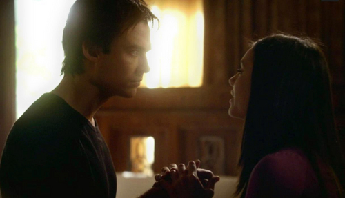 """""""You're going to die Elena."""" """"But then I'll come back to life."""" D: """"That's not a ....I'm willing to take."""""""