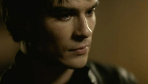 """Why do anda get a happy ending, and I don't?"" Who is Damon confronting?"