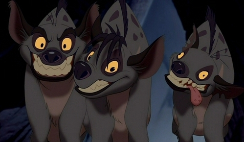 "True au false? The only Disney movie in which hyena au hyenas appear is ""The Lion King"" and its sequel, ""Lion King 1 1/2""."