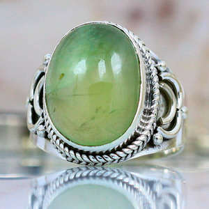 This ring was made of Peridot.