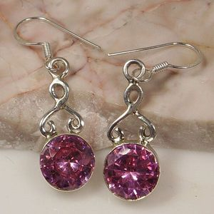 These earrings were made of Tanzanite.