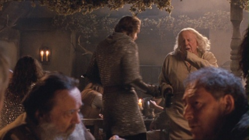 What did the possesed Gaius call sir Leon, when they bumped into each other?