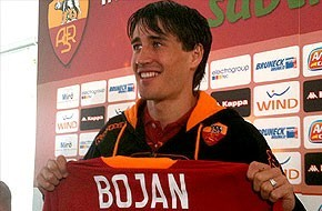 What's Bojan's number in AS Roma?