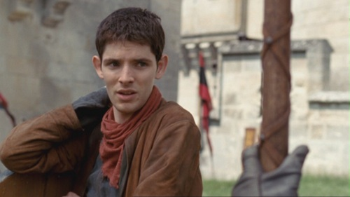 Merlin: How is punching me in the arm meant to cheer me up? Arthur:________.