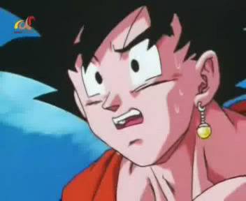 why goku looks so shucked here?