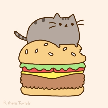 Pusheen lives with Claire.