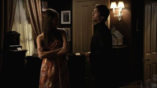 Elena:'Who was in the church that they wanted to save?' Damon:...