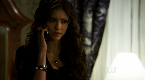 What does Katherine say to Damon regarding Stefan in this scene?