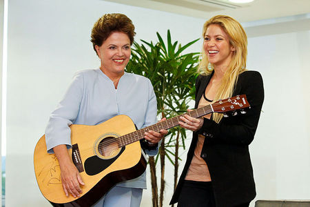 Who is the woman with Shakira?