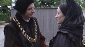 What does Thomas mais call Katherine of Aragon when she is forced to leave court?