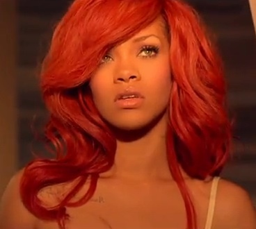 How did Rihanna Describe her RED hair?!