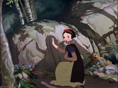 Who did not make the background of Snow White and the Seven Dwarfs?