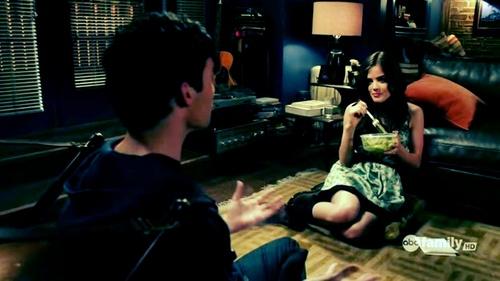 EPISODE DESCRIPTION. Ezra cooks for Aria. Which episode?