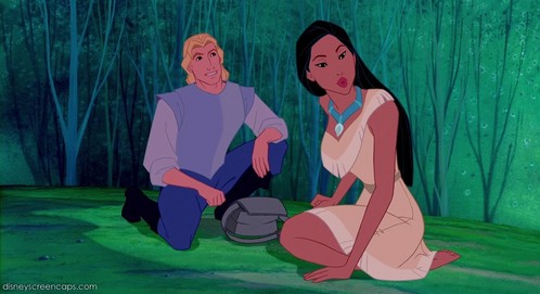 T/F: Pocahontas is the only Princess who never talks to the villain.