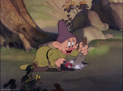 How many diamonds are swept by Dopey?