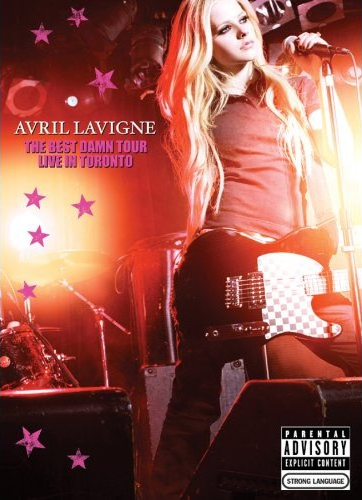 How many songs did Avril play at The best damn tour in Toronto 2008?