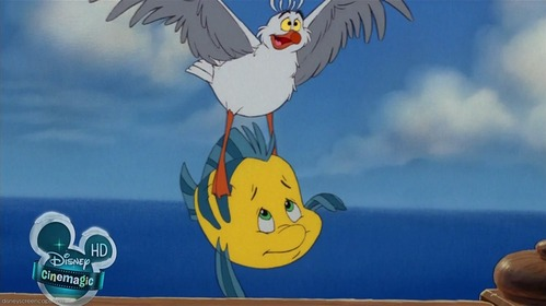What are Flounder's last words?