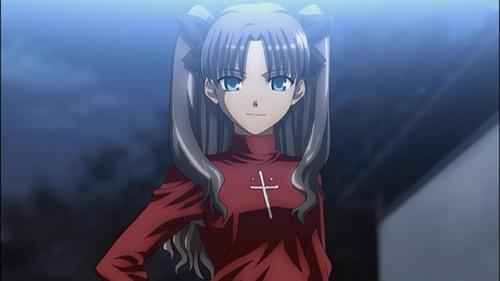 Who is the girl in fate stay night that is revealed to be rin's biological sister?