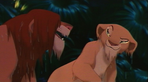 How many times do we see simba wet ?