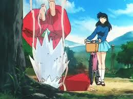 "How did InuYasha get the necklace kagome uses to make him ""sit""?"