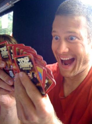 What about the Merlin Top Tumps cards had Tom Hopper just discovered on this picture?