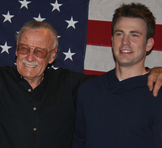 Photo of Chris Evans & his  Father  Robert Evans