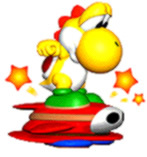 Which ability does Yellow Yoshi have in Super Mario World?