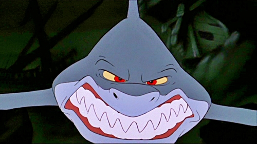 "According to ""The Little Mermaid""'s original screenplay, what was the name of the Shark?"