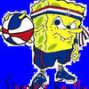 sponge bob guy bad man basketball jock AJ303 photo