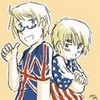 England (right) and America (left) from Hetalia Axis Powers Annacrombie photo