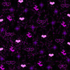 purple hearts and stars Flora_Bloom photo