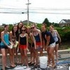 varsity cheer carwash..im the 1 in the fron )orange shorts blue tank top) Bieberobsessed photo