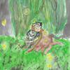 DxG under a willow tree <3 gwuncanfan photo