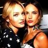 Alessandra Ambrosio and Candice Swanepoel Blondegirls photo