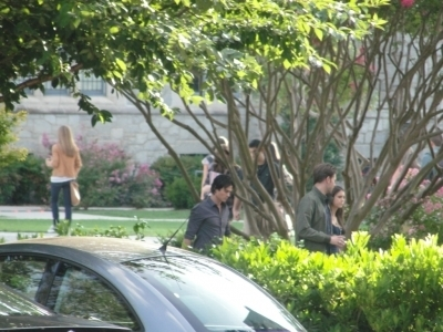 Ian, Matt & Nina on set