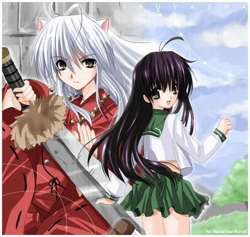 Cute fan art of InuYasha and Kagome