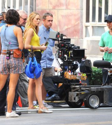 "Blake on ""Gossip Girl"" set"