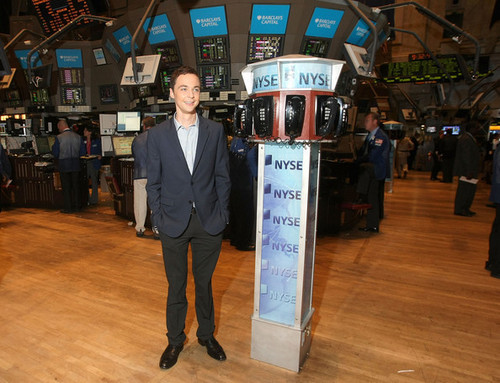 Jim Parsons Rings NYSE Opening Bell
