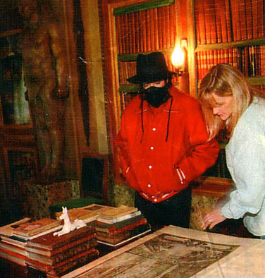 MJ visits Champ de Bataille 城 with Debbie Rowe