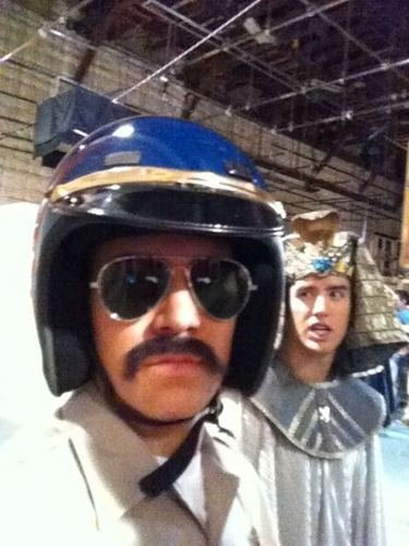 carlos as a cop and logan as a egyptain