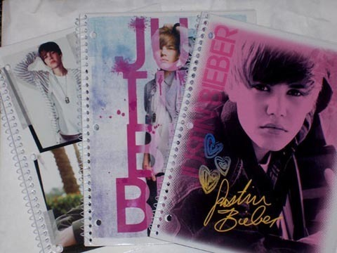 Justin Bieber Folders And Notebooks