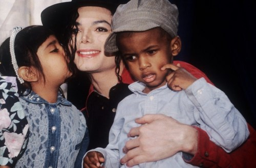 MJ and Kids.