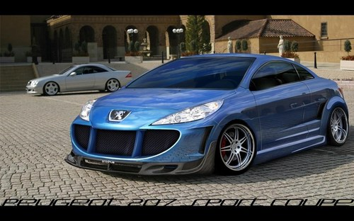 Peugeot 207 SPORT coupé, coupe TUNING