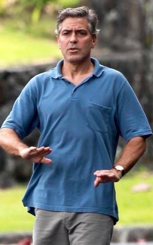 George Clooney on set in Oahu (March 17)