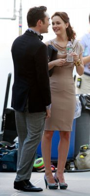 Ed and Leighton on the Gossip Girl set August 31