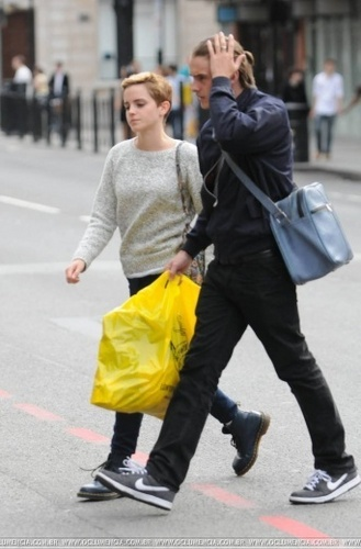 Emma Watson & Alex Watson shopping in London on 28/08